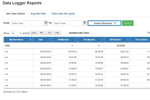 Machine Logger – Manufacturing Software